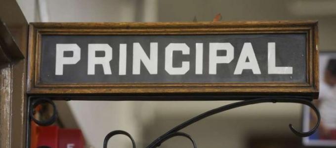 principal door sign